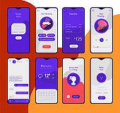 Various mobile app concepts. Trendy flat design vector illustration