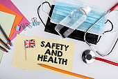 Safety and health. Information and the British flag