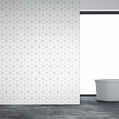 Empty bathroom interior wallpaper new
