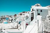 The Sunny Alleyways Of Santorini, Greece