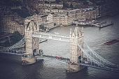 London Tower Bridge - Aerial View