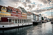Danish Architecture In Copenhagen Canal