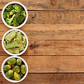 Boiled green vegetables