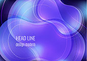 Organic design liquid colored abstract geometric shapes. Flowing gradient elements for minimal banner, logo, social posting. Futuristic trendy dynamic elements. Vector