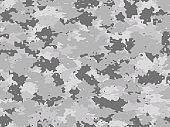 Seamless Military Camouflage Pattern Texture Gray Colors