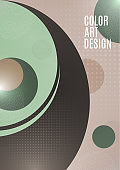 Modern background texture geometric pattern of circles and halftones for the design of cover, brochure, poster, banner. Template for your business. Vector