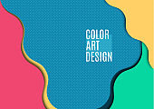 Colorful flowing abstract motion background. Smooth wave layout. Vector