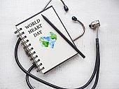 Happy World Heart Day. Beautiful card. Close-up,