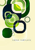 Overlapping round squares form a geometric abstract background composition. Design template for wallpaper, banner, background, card, illustration, landing page, cover, poster, flyer.