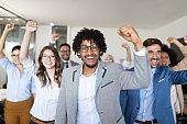 Succesful enterprenours and business people reach goals