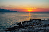 Beautiful landscape – beach on sunset