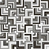 Seamless abstract ethnic pattern.Geometric background with rectangles