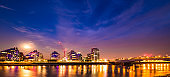 Battersea Reach Moon light London England