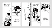 Set of geometric abstract trendy flyers.