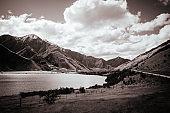 Moke Lake Near Queenstown in New Zealand