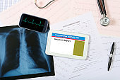 Coronavirus situation report on tablet