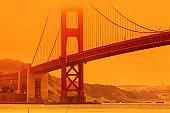 Smoky fires at Golden Gate Bridge