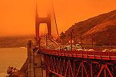 Golden Gate bridge californian fires