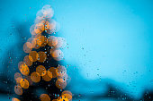 Detail of blurred Christmas Tree