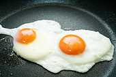 sunny-side up fried eggs