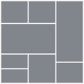 Photo collage template. Mood board. Vector illustration. Mosaic picture grid.