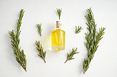 Bottle of rosemary oil