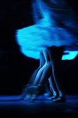 Ballerinas perform on stage