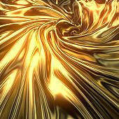 3d rendering of gold luxurious cloth material. Decorative elegant luxury design