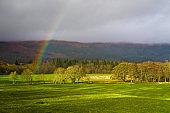 A rainbow in Scotland, UK