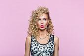 Portrait of woman in 80's style look