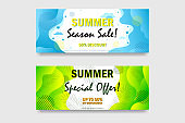 Web abstract banner summer special offer. web template