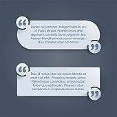 Quotes template set in decorative frame block