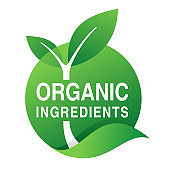 Organic Ingredients stamp for natural components