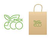 Eco pack logo - anti-plastic motivation