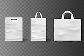 Mockup set of Realistic Shopping Bag for branding and corporate identity design. Square and horisontal black Shopping bag blank Mockup.