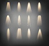 Scene illumination collection, transparent effects. Vector spotlights. Scene. Light Effects. Vector illustration EPS10