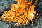orange hot flames