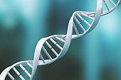 white DNA spiral structure.