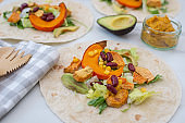 vegan tortilla wraps with pumpkin