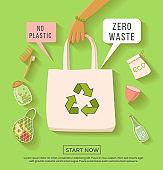 Zero waste concept illustration.