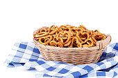 Small salty pretzels bavarian snack