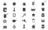 Cafe icons stock illustration Icon, Coffee - Drink, Coffee Cup, Cafe, Vector