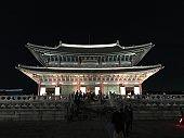 Night beauty of korea national palace.