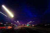 Vehicle speeding abstract Miami