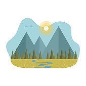 Blob with a flat mountain landscape.
