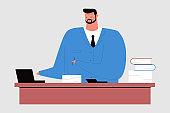Accountant vector cartoon character.
