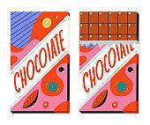 Chocolate bar vector cartoon illustration isolated on white background.