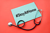 Stay at Home Note with a Stethoscope