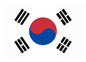 South Korea Flag. National South Korea flag. Vector illustration. Official colors and proportion correctly.