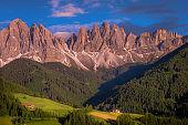 Geisler gruppe – Funes valley in Santa Maddalena, Dolomites alps – Italy